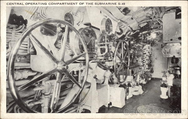 Central Operating Compartment of the Submarine S-49
