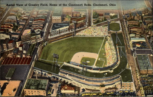 Aerial View of Crosley Field, Home of the Cincinnati Reds Ohio