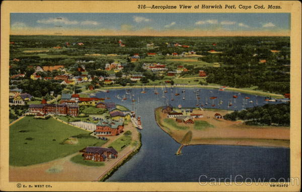 Aeroplane View of Harwich Port Cape Cod Massachusetts