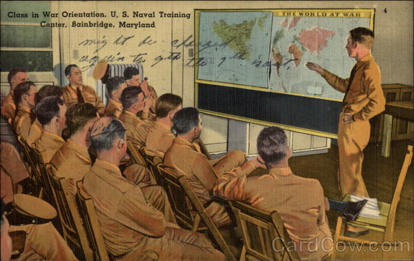 Class in War Orientation, U.S. Naval Training Center Bainbridge Maryland