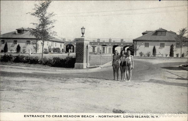 Entrance to Crab Meadow Beach Long Island New York