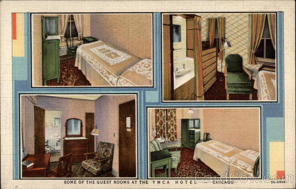 Some of the Guest Rooms at the YMCA Hotel Chicago Illinois