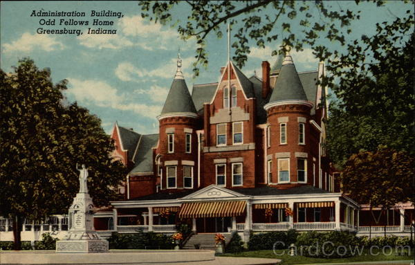 Administration Building, Odd Fellows Home Greensburg Indiana