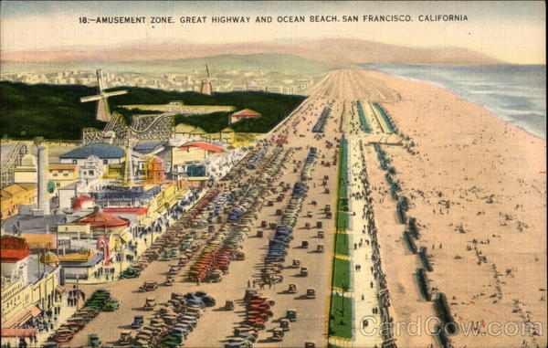 Amusement Zone Great Highway and Ocean Beach San Francisco California