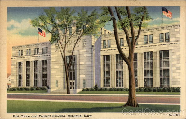 Post Office and Federal Building Dubuque Iowa