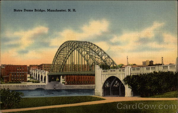 Notre Dame Bridge Manchester New Hampshire