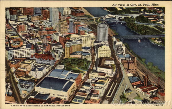 Air View of City St. Paul Minnesota