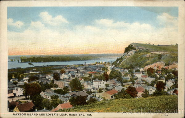 Jackson Island and Lover's Leap Hannibal Missouri