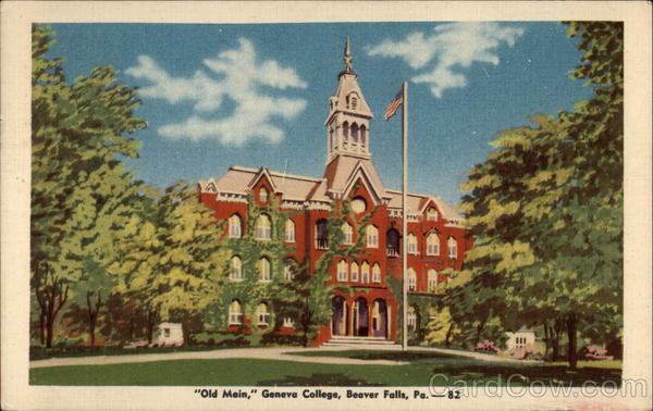 Old Main, Geneva College Beaver Falls Pennsylvania