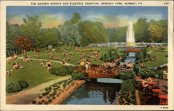 The Sunken Garden and Electric Fountain, Hershey Park