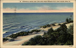 Peninsula Drive and Lake Erie for Presque Isle Light House