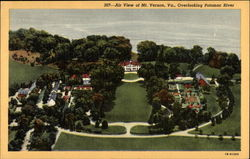 Air View of Mt. Vernon Overlooking Potomac River