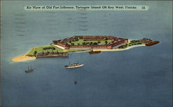 Air View of Old Fort Jefferson, Tortuga Island