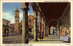 Porches at Cathedral Square Postcard