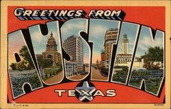 Greetings from Austin Texas Postcard