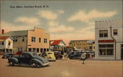 Post Office, Carolina Beach Postcard