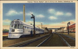 "Famous ""Denver Zephyr"" and C B & Q R R Station"