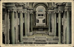 Interior of Kentucky's Capitol -- Nave, Stairway, and Corridors Postcard