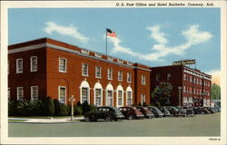 U. S. Post Office and Hotel Bachelor Postcard