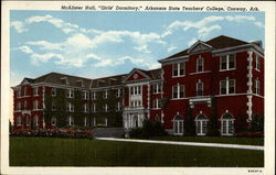 "McAllister Hall, ""Girls' Dormitory,"" Arkansas State Teachers' College Postcard"