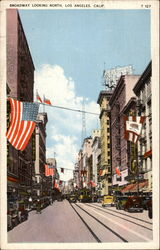 Broadway, Looking North Postcard