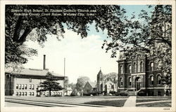 Lincoln High School, St Thomas Church and Hamilton County Court House