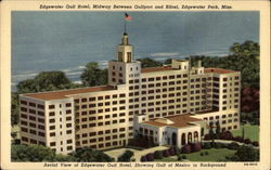 Aerial View of Edgewater Gulf Hotel, Showing Gulf of Mexico in Background