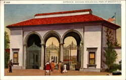 Entrance, Chicago Zoological Park at Brookfield Postcard
