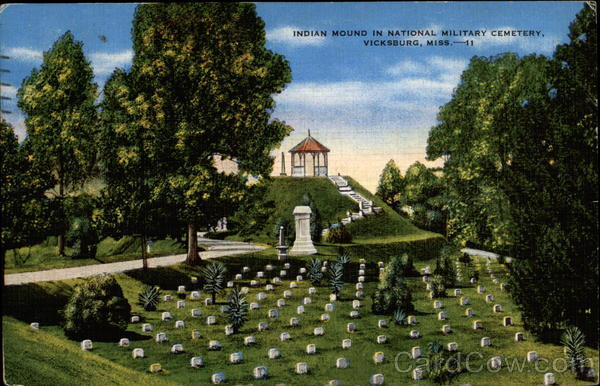 Indian Mound in National Military Cemetary Vicksburg Mississippi