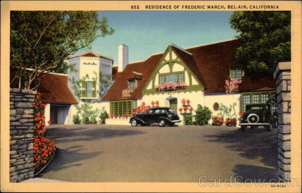 Residence of Frederic March Bel Air California