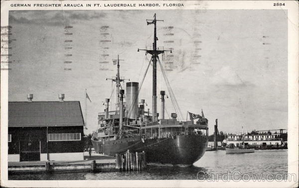 German Freighter Arauca Fort Lauderdale Florida Boats, Ships