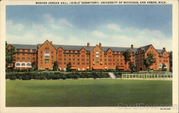 Mosher Jordan Hall (Girls' Dormitory) University of Michigan Ann Arbor