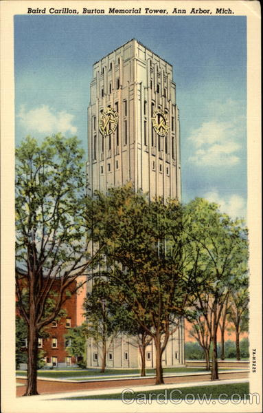 Baird Carillon Atop Burton Memorial Tower Ann Arbor Michigan