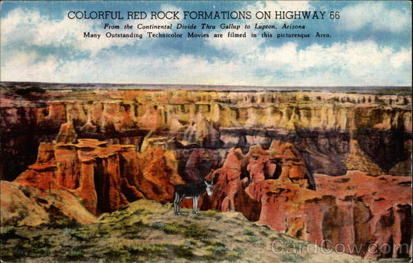 Colorful Red Rock Formations - Highway 66 Gallup New Mexico