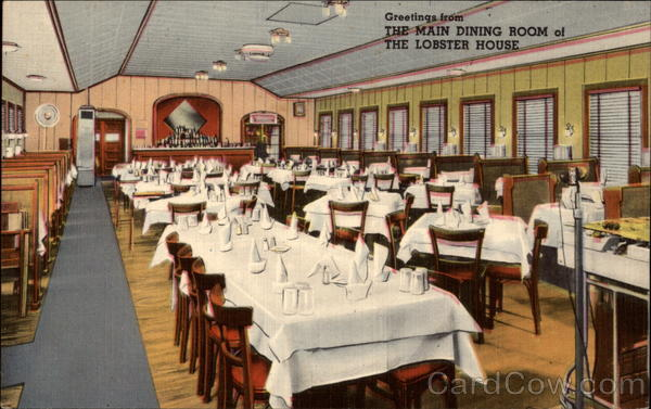 The Main Dining Room of The Lobster House Charletown Massachusetts