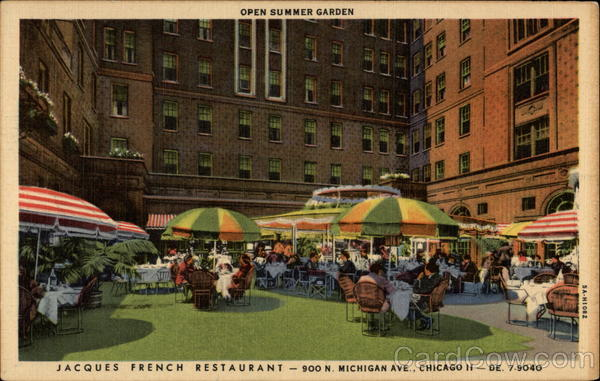 Open Summer Garden at Jacques French Restaurant Chicago Illinois