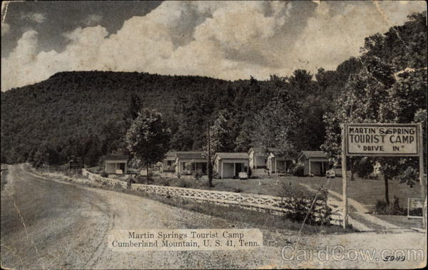 Martin Springs Tourist Camp Cumberland Mountain Tennessee