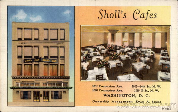 Sholl's Cafes Washington District of Columbia