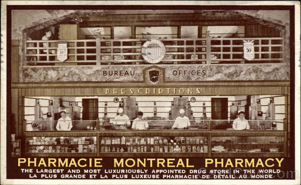 Pharmacie Montreal Pharmacy Canada Quebec