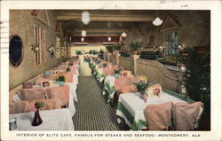 Interior of The Elite Cafe, famous for steaks and seafood