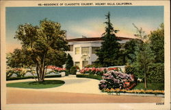 Residence of Claudette Colbert, Holmby Hills, CA
