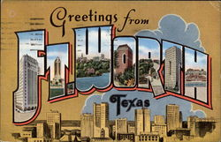 Greetings from Ft. Worth, Texas Postcard