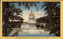 State Capitol, showing Kanawha River