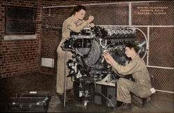 Engine Adjustment at Chanute Field