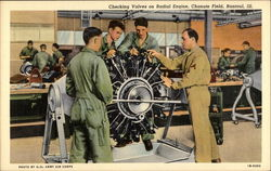 Checking Valves on Radial Engine, Chanute Field