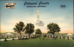 Colonial Courts Postcard