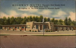 Highway Motel - 3010 Eighth Street South Postcard