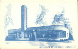 The Interstate Glass House Restaurant Postcard