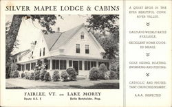 Silver Maple Lodge & Cabins, Route U.S.5 on Lake Morey