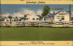 Schooley's Cabins Postcard
